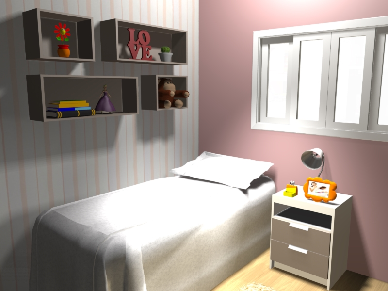 projeto móveis planejados quarto infantil